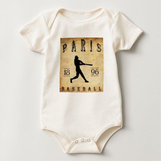 1896 Paris Texas Baseball Baby Bodysuit