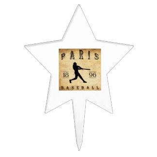 1896 Paris Texas Baseball Cake Topper