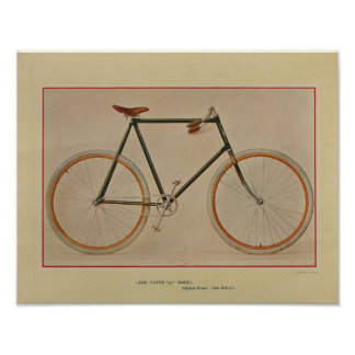 1896 Patee Bicycle Color Ad Art Print