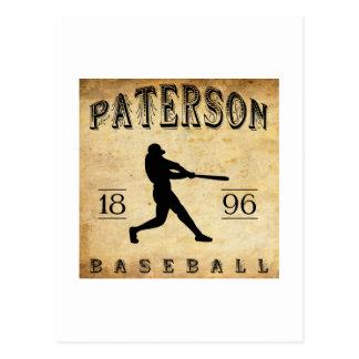 1896 Paterson New Jersey Baseball Postcard