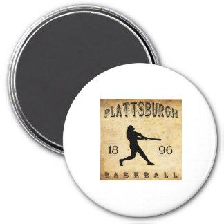 1896 Plattsburgh New York Baseball Magnet