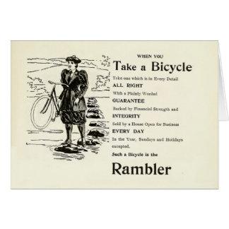 1896 Rambler Bicycle magazine ad Greeting Card