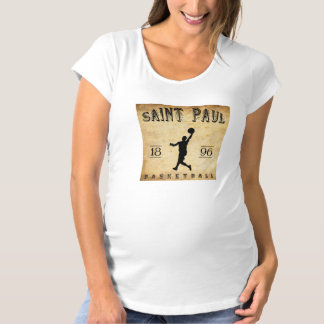 1896 Saint Paul Minnesota Basketball Maternity T-Shirt