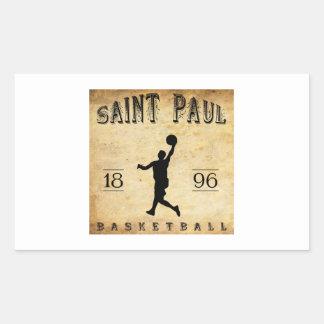 1896 Saint Paul Minnesota Basketball Rectangle Sticker