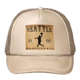 1896 Seattle Washington Basketball Trucker Hat