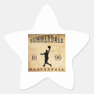1896 Summerdale Pennsylvania Basketball Star Sticker