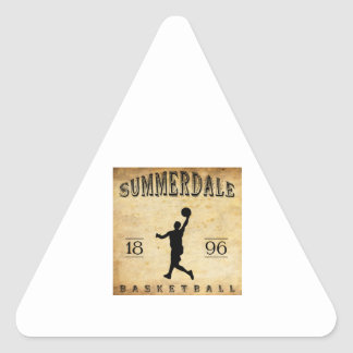 1896 Summerdale Pennsylvania Basketball Triangle Stickers