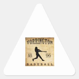 1896 Torrington Connecticut Baseball Triangle Sticker