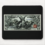 1896 US Five Dollar silver Certificate Mouse Pad