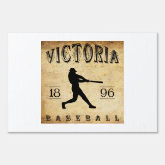 1896 Victoria British Columbia Canada Baseball Lawn Sign