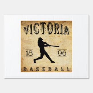 1896 Victoria British Columbia Canada Baseball Lawn Signs