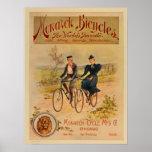 1896 Vintage Color Monarch Bicycles Ad Art Poster