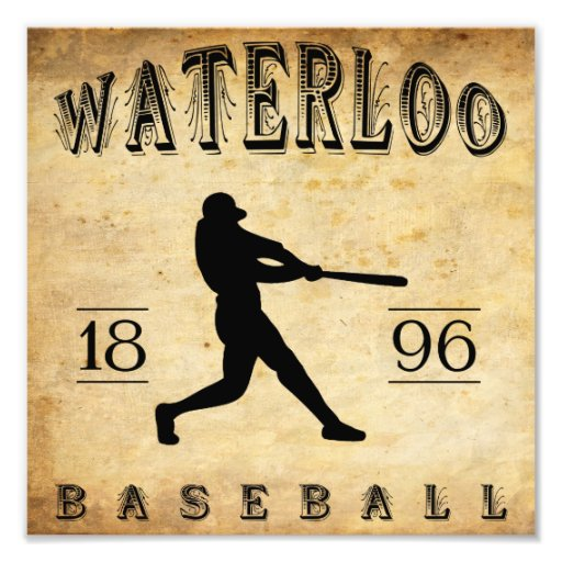 1896 Waterloo Wisconsin Baseball Photo Print
