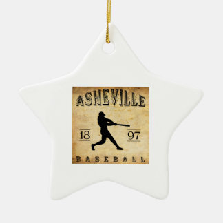1897 Asheville North Carolina Baseball Ceramic Ornament