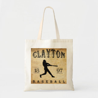 1897 Clayton New Jersey Baseball Tote Bag