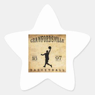 1897 Crawfordsville Indiana Basketball Star Sticker