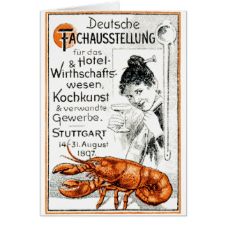 1897 Culinary Poster Greeting Card