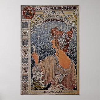 ~ 1897 de Bélgica del ~ de los corsés de Royale de Póster