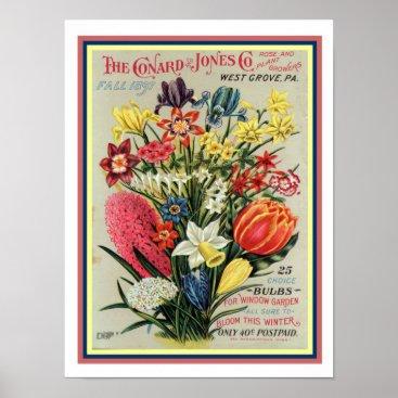 Art Themed 1897 Flower Seed Catalog Cover 12x16 Poster