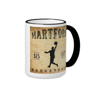 1897 Hartford Connecticut Basketball Coffee Mugs