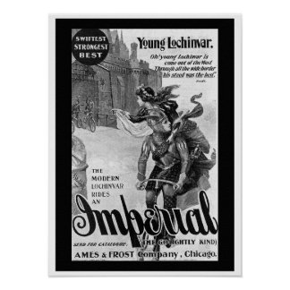 1897 Imperial Bicycle Advertising Poster
