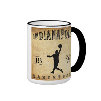 1897 Indianapolis Indiana Basketball Coffee Mug