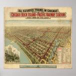 1897 mapa panorámico de la opinión de ojo de pájar poster
