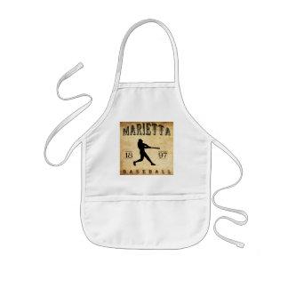 1897 Marietta Ohio Baseball Apron