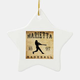 1897 Marietta Ohio Baseball Ceramic Ornament