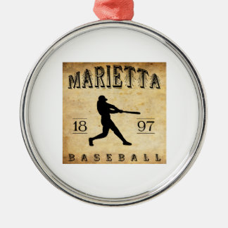 1897 Marietta Ohio Baseball Metal Ornament