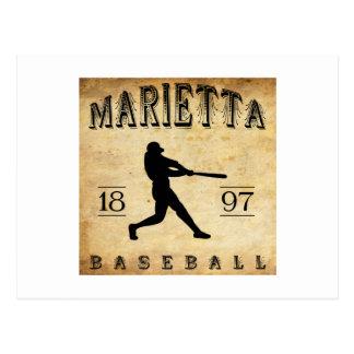 1897 Marietta Ohio Baseball Postcard