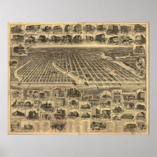 1897 Ocean Grove & Asbury Park, NJ Panoramic Map Poster