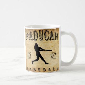 1897 Paducah Kentucky Baseball Classic White Coffee Mug
