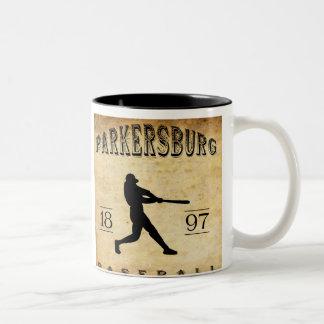 1897 Parkersburg West Virginia Baseball Two-Tone Coffee Mug