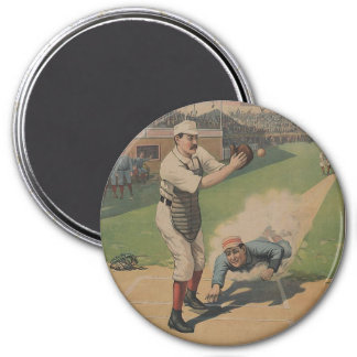 1897 Strobridge Baseball 3 Inch Round Magnet
