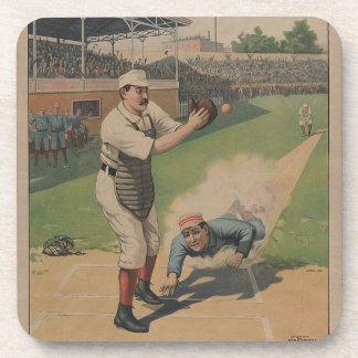 1897 Strobridge Baseball Drink Coaster