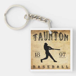 1897 Taunton Massachusetts Baseball Double-Sided Square Acrylic Keychain