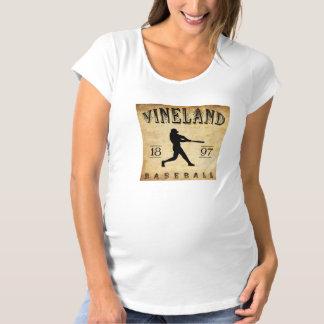 1897 Vineland New Jersey Baseball Maternity T-Shirt