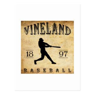 1897 Vineland New Jersey Baseball Postcard
