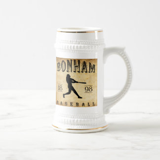 1898 Bonham Texas Baseball Beer Stein