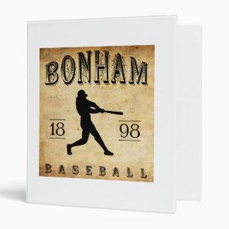 1898 Bonham Texas Baseball Binder