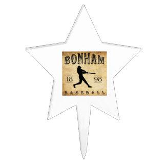 1898 Bonham Texas Baseball Cake Topper
