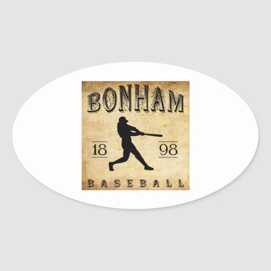 1898 Bonham Texas Baseball Oval Sticker