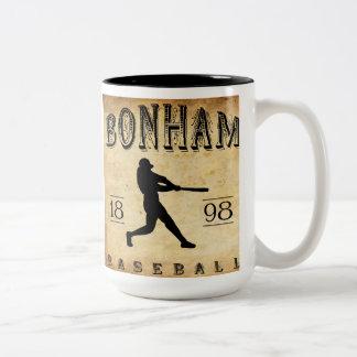 1898 Bonham Texas Baseball Two-Tone Coffee Mug