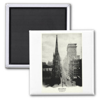 1898 Broadway New York City 2 Inch Square Magnet