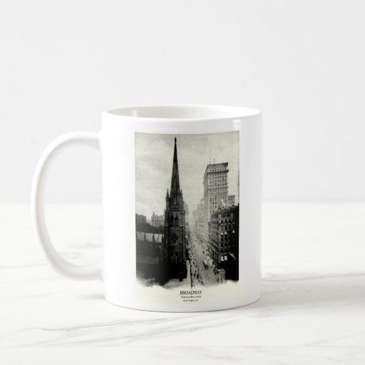 1898 Broadway New York City Classic White Coffee Mug
