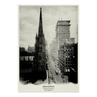 1898 Broadway New York City Poster