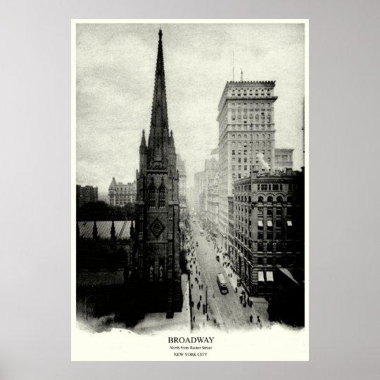 1898 Broadway New York City Poster