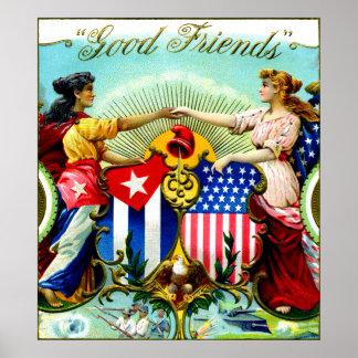 1898 buenos cigarros de los amigos posters