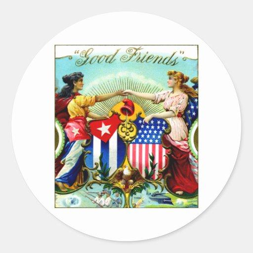 1898 buenos cigarros de los amigos pegatinas